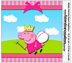 Peppa Pig Hada: Etiquetas para Candy Bar para Imprimir Gratis.