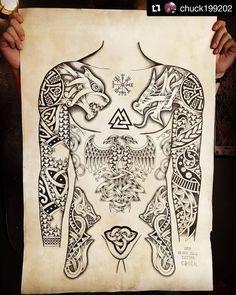 Tattoo Artist IG Studio 永 森 森 Tattoo Studio . Viking Tattoo Sleeve, Viking Tattoo Symbol, Norse Tattoo, Viking Tattoo Design, Celtic Tattoos, Viking Tattoos, Sleeve Tattoos, Armor Tattoo, Warrior Tattoos