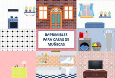 20 Fondos imprimibles para casas de muñecas: Suelos y paredes