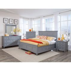 Magnussen Graylyn Panel Storage Bed, Size: California King - MHF2679-3