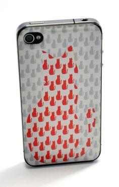 cat iphone cover skin nogluelab