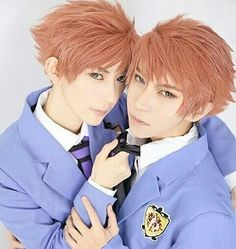 @willie.chia and KumaQi {China} as Hikaru Hitachiin and Kaoru Hitachiin {Ouran High School Host Club}