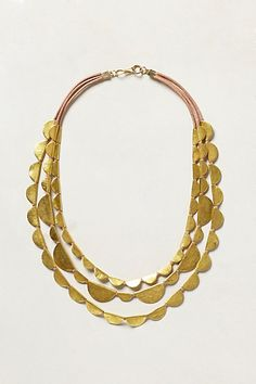 gold layered salton necklace #anthrofave