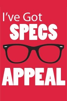 Specs appeal! So funny! We love optical humor!