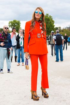 Red Alert with Anna Dello Russo. Shop this look soon on www.musestlye.com #AnnaDelloRusso #musestyle