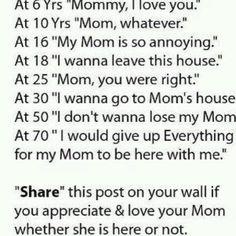 I LOVE my Mom!  Me too!!