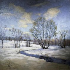 Old Willow And Brook by Willard Leroy Metcalf