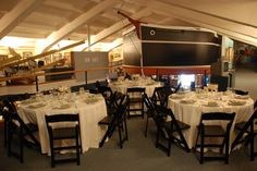Special Events at SBMM Maritime Museum, Museum Wedding, Bat Mitzvah, Wedding Flowers, Table, Santa Barbara, Special Events, Furniture, Dinner