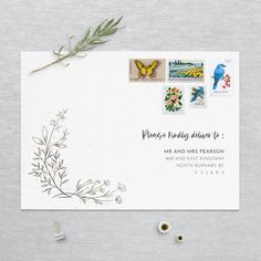 Wedding Stationery, Wedding Invitations, Envelope Sizes, Little Boxes, Save The Date, Thank You Cards, Our Wedding, Initials, Handmade Gifts