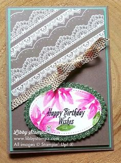 ESAD 2017 Last Chance Sale-a-bration Blog Hop. Uses Delicate Details, Avant Garden and Glitter Assortment Pack with Watercolor Pencils, Layering Oval Framelits and Stitched Shapes Framelits