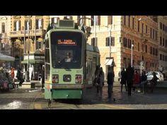 Beautiful Tram in Rome City, Italy