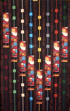 """Line Play"" by Linda Rotz Miller Quilt Border, Quilt Top, Hanging Quilts, Bargello Quilts, Straight Line Quilting, Contemporary Quilts, Traditional Quilts, Easy Quilts, Free Motion Quilting"