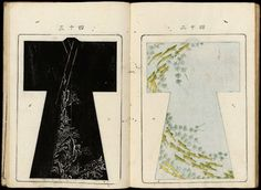 Japanese Drawings, Kimono Design, Kimono Pattern, Vintage Kimono, Japanese Patterns, Yukata, Catalog, Collage, Textiles