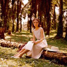 """Audrey Hepburn. """"The Nun Story"""" Belgian Congo. Leo Fuchs 1958"""
