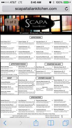 Scapa menu (page 1)