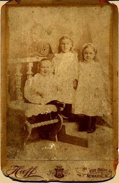 Missing Boy On The Left. The family would pose for a Picture & then an image of the Deceased Was Superimposed onto the new photograph.
