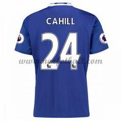 Billige Fotballdrakter Chelsea 2016-17 Cahill 24 Hjemme Draktsett Kortermet