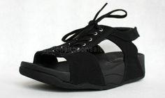 Womens Sandals Fitflop Canvas Black Shoes