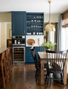 Navy Blue Kitchen Reveal via Lauren Leiss