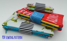 two in one pouch pattern from Sotak Handmade - so adorable