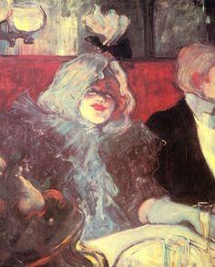 Henri de Toulouse-Lautrec.  Im »Rat Mort«. 1899-1900, Öl auf Leinwand, 55 × 45 cm. London, Courtauld Institute Galleries. Genremalerei. Frankreich. Postimpressionismus.  KO 00939