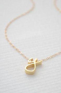 baadbdec50b Gold Cursive Initial Necklace - Cursive initial necklace gold  #initialnecklace