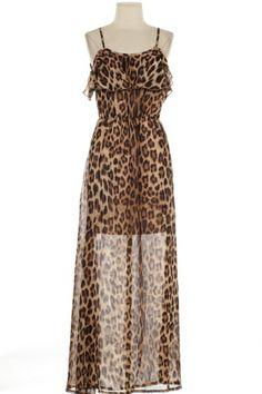 {Leopard Romba} Maxi Dress, $44.95 www.DustyDiamondsBoutique.com Huntsville, TX Always only $3.00 flat rate shipping! :)