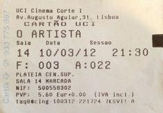 "Cinema: ""O Artista"". 2012-03-10."