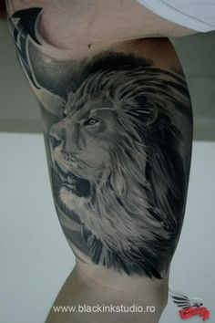 Belly Side Lion Realistic tattoo by Black Ink Studio Side Tattoos, Cool Tattoos, Lion Tattoo, Animal Tattoos, Tatting, Ink, Studio, Black, Awesome Tattoos
