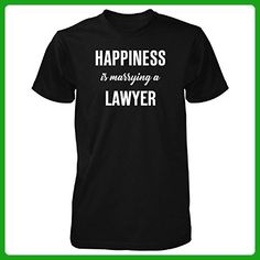Happiness Is Marrying A Lawyer Cool Gift - Unisex Tshirt Black 3XL - Careers professions shirts (*Amazon Partner-Link)