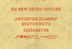 KH NEW RETRO OUTLINE by KERN + HYDE on @creativemarket