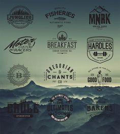 Retro logo and badges cafe hipster vector | Free download