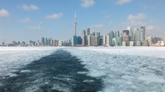 Crushing Through Ice Aboard A Toronto Island Ferry