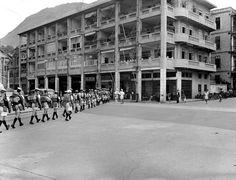 1945年9月加拿大兵在鰂魚涌區