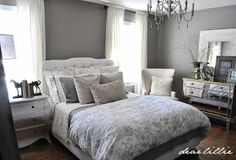 Dear Lillie: Peek of our Gray Guest Bedroom and Ballard Design