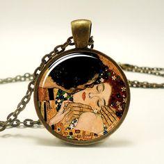The Kiss by Gustav Klimt Necklace