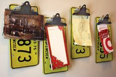License plate clipboards... way fun!