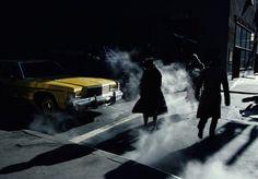 """ Pedestrians crossing a New York street in winter time cast long shadows, © Ernst Haas/Getty Images. New York City, Paris New York, New York Street, Color Photography, Vintage Photography, Street Photography, Urban Photography, Film Photography, William Eggleston"