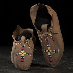 Cheyenne Beaded Hide Moccasins  (4/8/2016 - American Indian and Western Art: Live Salesroom Auction)