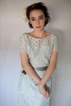 heavenly vintage brides blog 50u002639s baby blue lace cocktail dress lace cocktail dress 567x850