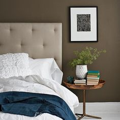 A pretty darker option for the master bedroom.  Benjamin Moore® Ben® Paint, Fairview Taupe HC-85