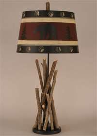 Stick Table Lamp; Rustic, Cabin, Lake, Lodge, Western, Southwest Furniture; The Refuge Lifestyle