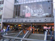 Hauptbahnhof (train station) @ Munich, Germany.     We flew into Munich and took a train from Munich to Salzburg