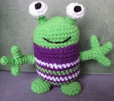 Cosy Alien Monster crochet toy pattern. PDF file. Instructions plus photos and email support as long as you need it.. $3.50, via Etsy.