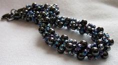 Hematite and Seed Bead Kumihimo Bracelet by TsTreasures on Etsy