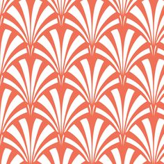 Art Deco Palm Leaf - Sunrise fabric by tuppencehapenny on Spoonflower.