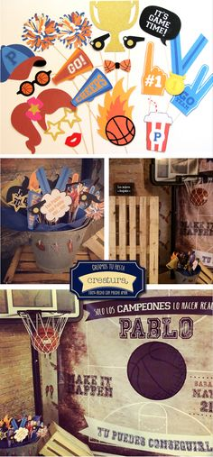 creatura: Una mesa dulce de baloncesto vintage para todo un campeón. #birthday…                                                                                                                                                                                 Más