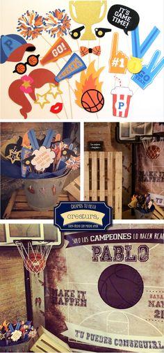 creatura: Una mesa dulce de baloncesto vintage para todo un campeón. #birthday…