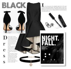 """""""Black Dress #group #black #polyvore"""" by andifirda ❤ liked on Polyvore featuring Halston Heritage, Boohoo, Bobbi Brown Cosmetics and Betsey Johnson"""