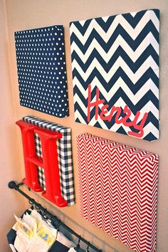 Henry's nursery art navy and white by newlywoodwards, via Flickr